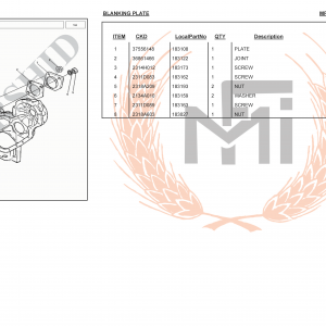 MF385 4WD SPARE PARTS BLANKING PLATE