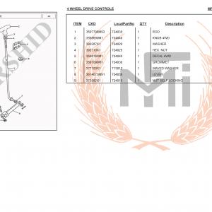 MF385 4WD SPARE PARTS 4 WHEEL DRIVE CONTROLE